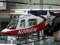 Helicóptero en el museo de las noticias Imágenes de archivo libres de regalías
