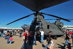 Helicóptero en la visualización Imagen de archivo
