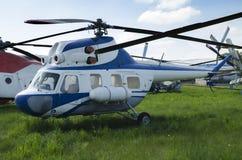 Helicóptero en sitio Fotos de archivo