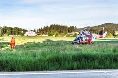 Helicóptero ereto do salvamento Imagem de Stock