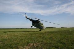 Helicóptero extremo del despegue imágenes de archivo libres de regalías