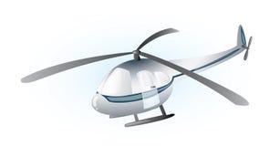 Helicóptero gris Foto de archivo