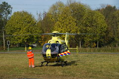 Helicóptero holandês da ambulância (Lifeliner 1) Fotografia de Stock Royalty Free
