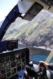 Helicóptero interior Imagen de archivo