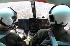 Helicóptero interior imagen de archivo libre de regalías