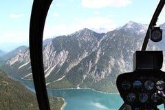 Helicóptero interior Foto de archivo libre de regalías