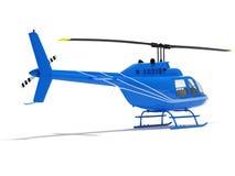 Helicóptero isolado em um fundo branco Fotografia de Stock Royalty Free