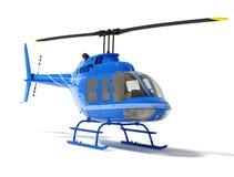 Helicóptero isolado em um fundo branco Foto de Stock Royalty Free