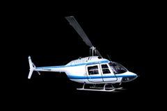 Helicóptero isolado sobre o preto fotos de stock