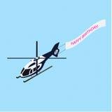 Helicóptero isométrico com pau de cumeeira Imagem de Stock Royalty Free