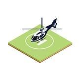 Helicóptero isométrico del embarque Ilustración del Vector