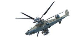 Helicóptero Ka-52 do russo (jacaré Foto de Stock