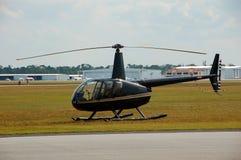 Helicóptero leve na terra Fotos de Stock Royalty Free