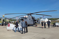 Helicóptero Mi-35 Foto de Stock
