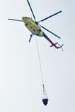 Helicóptero MI-8 do fogo Fotografia de Stock Royalty Free