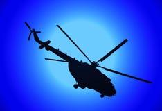 Helicóptero MI-17 en la noche stock de ilustración