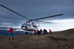 Helicóptero MI 8 MTV 1 na Transilvânia Foto de Stock Royalty Free