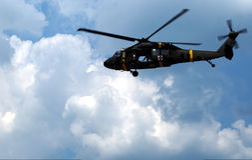 Helicóptero militar do helicóptero sanitário do exército Imagens de Stock