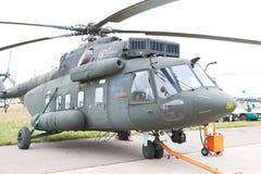 Helicóptero militar verde e cinzento Foto de Stock Royalty Free