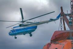 helicóptero Navio-baseado Imagens de Stock Royalty Free