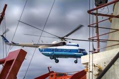 helicóptero Navio-baseado Foto de Stock Royalty Free