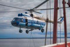 helicóptero Navio-baseado Fotografia de Stock Royalty Free