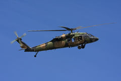 Helicóptero negro australiano del halcón Imagen de archivo libre de regalías