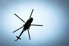 Helicóptero no céu Imagens de Stock Royalty Free