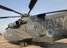 Helicóptero pesado de la detección de minas submarinas de la marina de los E.E.U.U. Imágenes de archivo libres de regalías