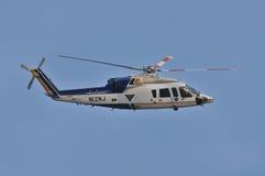 Helicóptero policial Imagen de archivo libre de regalías