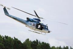 Helicóptero policial. Imágenes de archivo libres de regalías