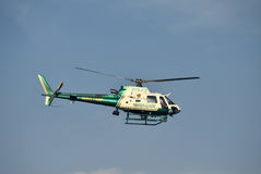 Helicóptero policial de Miami Dade Fotos de archivo libres de regalías