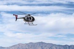 Helicóptero policial del metropolitano de Las Vegas Foto de archivo