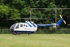 Helicóptero policial holandés Bo105 fotografía de archivo