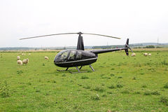Helicóptero privado de lujo Imágenes de archivo libres de regalías