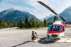 Helicóptero pronto para a partida Imagem de Stock