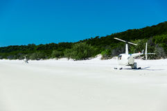 Helicóptero que parte, praia II de Whitehaven imagem de stock royalty free