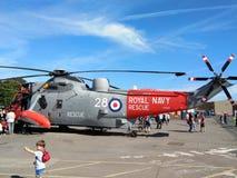 Helicóptero real del rescate de la marina de guerra Fotografía de archivo