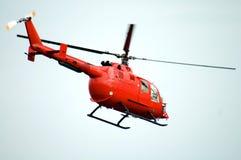 Helicóptero rojo Fotos de archivo