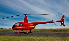 Helicóptero rojo Imágenes de archivo libres de regalías