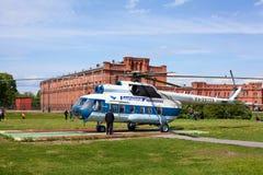 Helicóptero ruso en St Petersburg, Rusia Foto de archivo libre de regalías