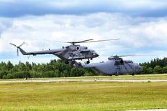 Helicóptero s del transporte Imágenes de archivo libres de regalías