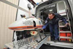 Helicóptero sin tripulación, radiación Foto de archivo libre de regalías