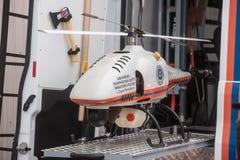 Helicóptero sin tripulación, radiación Imagen de archivo libre de regalías