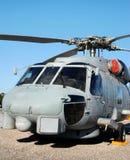 Helicóptero submarino da caça foto de stock
