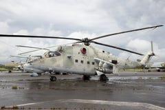 Helicóptero trasero Mi-24 Imagen de archivo libre de regalías