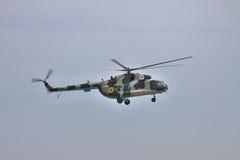 Helicóptero ucraniano de la fuerza aérea Mi-8 Fotos de archivo