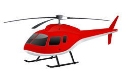 Helicóptero vermelho Fotografia de Stock Royalty Free