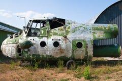 Helicóptero viejo imagen de archivo