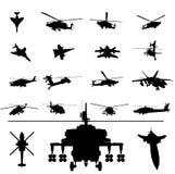 helicóptero y combatiente Imagen de archivo